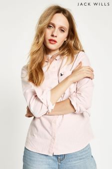 Jack Wills Pink Homefore Striped Classic Shirt