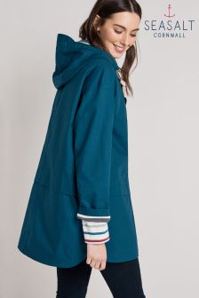 Seasalt Blue Raincloud Square Sail Coat