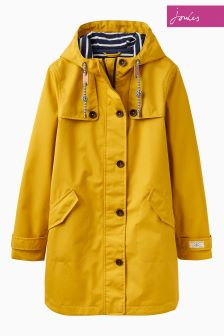 Joules Gold Mid Length Coast Hooded Jacket