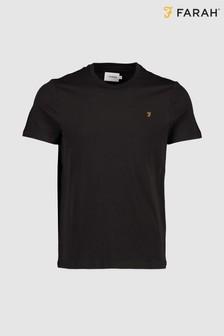 Farah Black Denny Slim T-Shirt