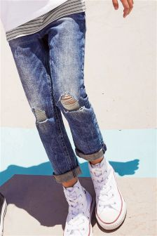 Acid Wash Relaxed Skinny Jeans (3-16yrs)