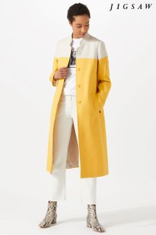 Jigsaw Yellow Linen Coat