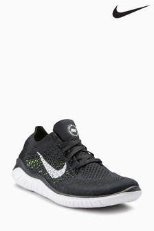 Nike Black/White Flyknit Free Run 2018