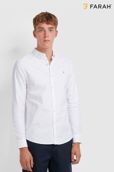 Farah White Brewer Long Sleeve Shirt