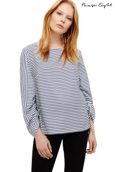 Phase Eight Bluebell/Ivory Libby Stripe Blouse