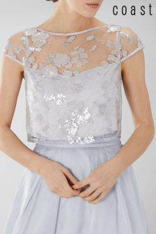 Coast Silver Nicia Sequin Top