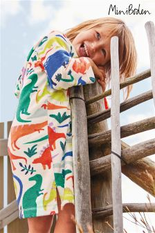 Boden Ivory Do-You-Think-She-Saurus Towelling Beach Dress