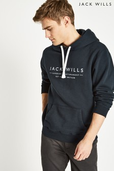 Jack Wills Navy Batsford Wills Popover Hoody