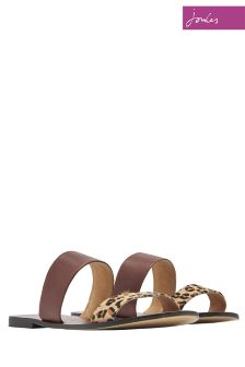 Joules Tan Leopard Fenthorpe Sandal