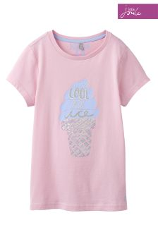 Joules Pink Astra Appliqué Jersey T-Shirt