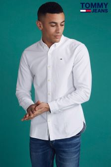 Tommy Jeans White Basic Solid Shirt