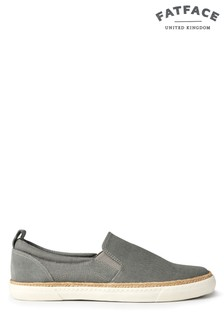 FatFace Grey Aston Slip On Trainer