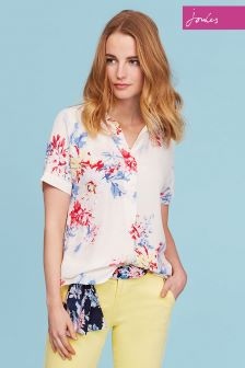 Joules Cream Floral Jennifer Tunic