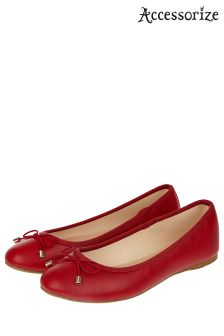 Accessorize Red Coralie Basic Ballerina