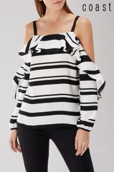 Coast Black Rachel Stripe Top