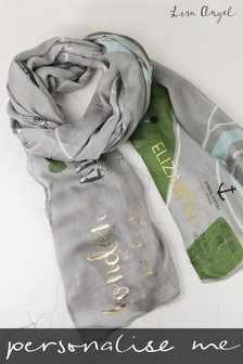 Personalised London Map Scarf By Lisa Angel