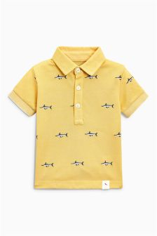 Short Sleeve Embroidered Marlin Polo (3mths-6yrs)