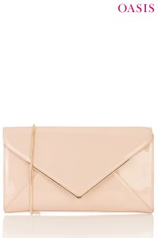 Oasis Nude Envelope Clutch
