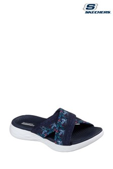 Skechers® Blue On The Go 600 Monarch Navy Cross Sandals