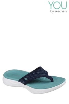Skechers® On-The-Go Navy 3 Point Sandal