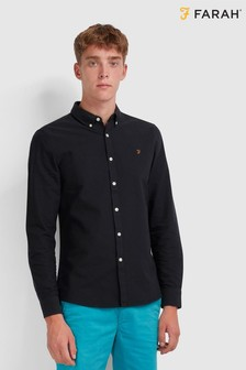 Farah Black Brewer Long Sleeve Shirt