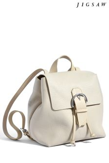 Jigsaw Cream Bree Buckle Backpack