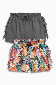 Fringe Shorts Two Pack (3-16yrs)
