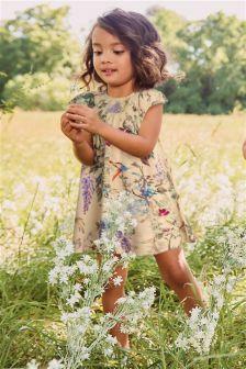 Floral Print Smocked Dress (3mths-6yrs)