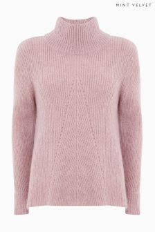 Mint Velvet Rose Stitch Detail Swing Fit Boxy Knit