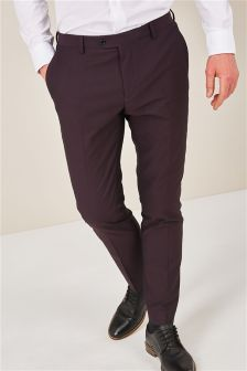 Diamond Texture Skinny Fit Suit: Trousers