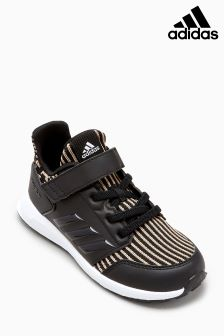 adidas Black Rapida Run Knit Velcro