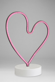 Heart Neon Effect Feature Light