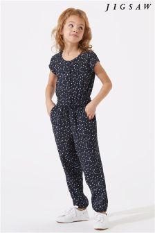 Jigsaw Blue Ditsy Dandelion Print Jumpsuit