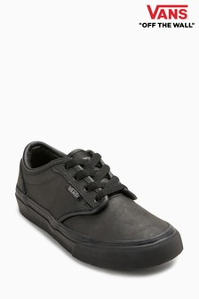 vans ladies black leather