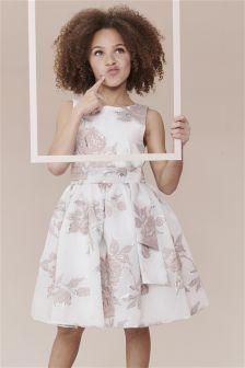 Rose Jacquard Prom Dress (3-14yrs)