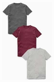 Rib T-Shirts Three Pack (3-16yrs)