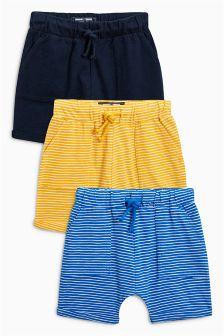 Lightweight Stripe Shorts Three Pack (3mths-6yrs)