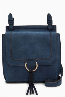 Ring Detail Messenger Bag