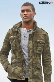 Superdry Camo Print Classic Rookie Military Jacket