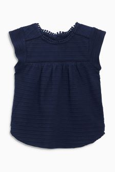 Textured Short Sleeve Blouse (3mths-6yrs)