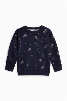 Unicorn Crew Neck Top (3mths-6yrs)