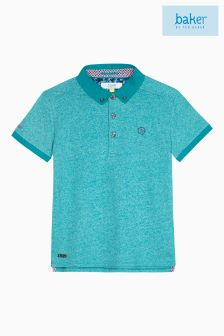 Baker By Ted Baker Green Marl Icon Polo