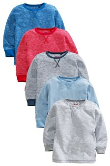 Multi Long Sleeve Essential Tops Five Pack (3mths-6yrs)