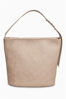 Leather Weave Hobo Bag