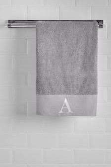 Embroidered Initial 100% Cotton Towels