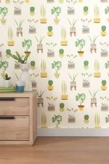 Paste The Wall Cacti Print Wallpaper