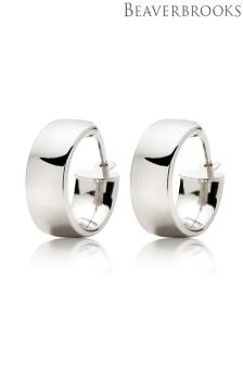 Beaverbrooks 9ct White Gold Hoop Earrings