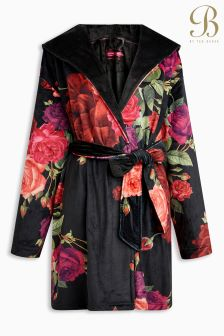 B By Ted Baker Juxtapose Rose Floral Red Short Robe