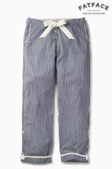 Fat Face Chambray Cotton Stripe Classic Pant