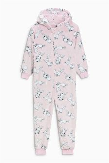Bunny Fleece All-In-One (2-12yrs)